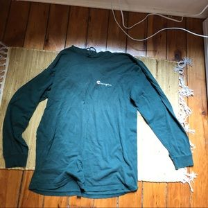 Oversized green champion hoodie